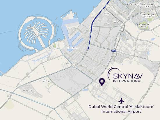SkyNav Map without border