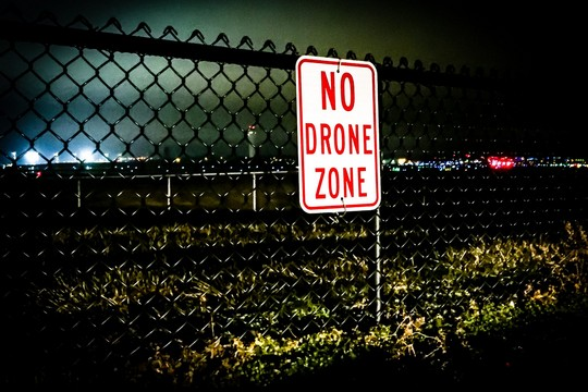 Airspace & Critical Infrastructure Protection sign