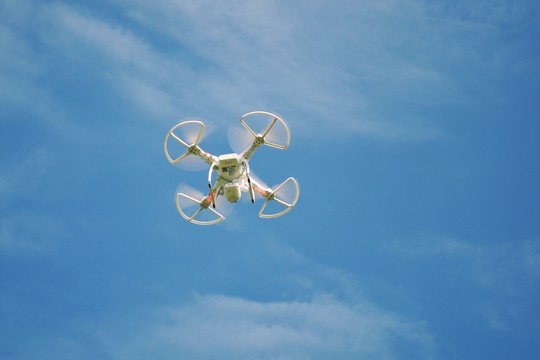 Drone operating during a safety risk assessment