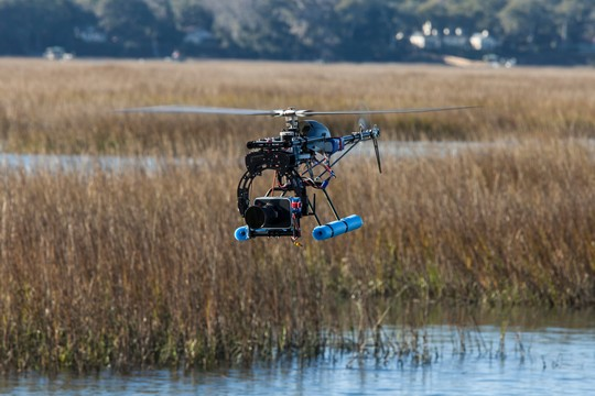 UAS with camera operating safely